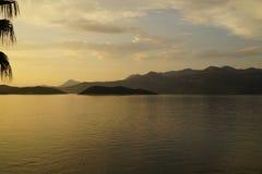 Mediterranean sunset in Croatia royalty free stock photography