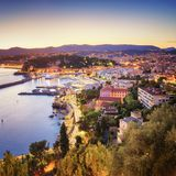 Nice at Sunset - France. View of the beautiful Town of Nice at sunset Stock Photography