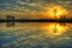 A nice sunset lake Royalty Free Stock Image