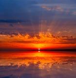 Nice sunset on lake Royalty Free Stock Photo