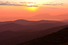 Nice sunset in mountains Royalty Free Stock Photos