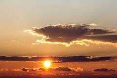 Nice sunset over lake Royalty Free Stock Photography