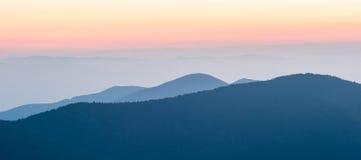 Nice sunset over mountains or north carolina Stock Image