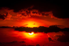 Nice sunset over mountains Royalty Free Stock Images