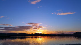 Nice sunset over river Royalty Free Stock Photo