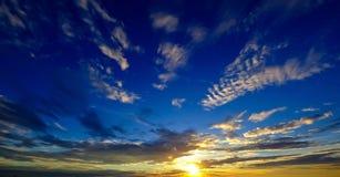 Nice sunset sky at blue sky Stock Photos