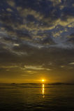 Nice sunset sky with clouds at Sichang island Stock Photography