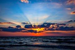 Nice sunset sky over sea Royalty Free Stock Image