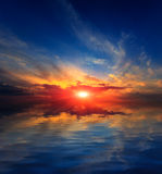 Nice sunset sky over water Royalty Free Stock Photo