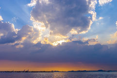 Nice sunset sky at sea Royalty Free Stock Photography