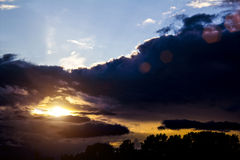 Nice sunset before the storm. Sunset before the storm, clouds Royalty Free Stock Photo
