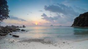 Nice sunset on tropical island.  stock footage