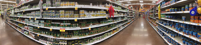 A nice supermarket interior TX. Interior of nice grocery store, TX USA, panoramas picture stock photography