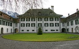 Nice Swiss Mansion 1. Nice Mansion in Interlaken. Switzerland stock photos