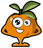 Nice Tangerine cartoon isolated Stock Photo