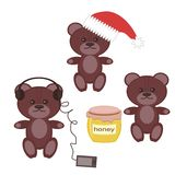 Nice teddy bears on white background Royalty Free Stock Image