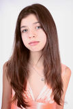 Nice teen girl in pink dress Royalty Free Stock Photos