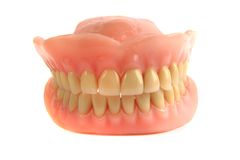 Nice teeth prosthesis Royalty Free Stock Image