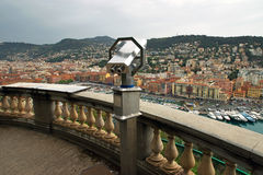 Nice - Telescope on the observation point Stock Photo