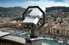 Nice - Telescope on the observation point Royalty Free Stock Image