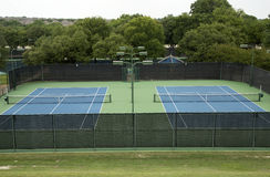 Nice tennis court exterior Royalty Free Stock Photos