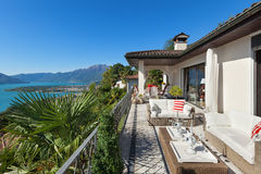 Nice terrace of a villa Stock Images