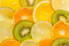 Nice texture made of fruit slices. Royalty Free Stock Photography