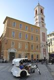 Nice, 5th September: Tricycle Chaise for Citytour in the Place Gautier Square from Nice