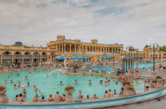 Nice Thermal Bath in Budapest Royalty Free Stock Photos