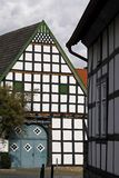 Nice timbered house in Bad Essen, Germany. Nice timbered house in the old part of town from Bad Essen, Lower Saxony, Germany royalty free stock photography