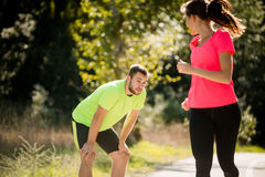 Nice to meet you - running in park Stock Photography