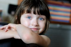 Nice toddler girl with blue eyes Stock Images