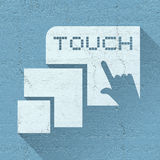 Nice touch sign Royalty Free Stock Photos