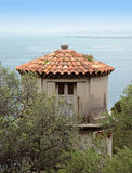 Nice - Tower overlooking the Mediterranean Sea Stock Photography