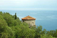 Nice - Tower overlooking the Mediterranean Sea Stock Photo