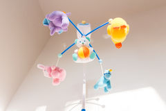 Nice toy carousel. Musical carousel animals over the crib Stock Image