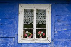 Nice traditional rural house window Royalty Free Stock Image