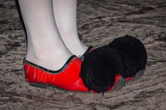 Nice traditional shoes royalty free stock photography