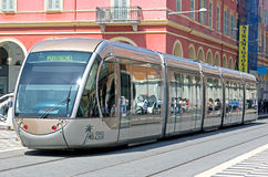 Nice - Tram in city Royalty Free Stock Photography
