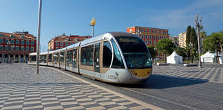 Nice - Tram in the city Royalty Free Stock Photos