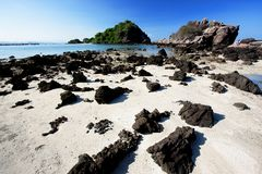 Nice Tranquil Beach, Southern Thialand Royalty Free Stock Images