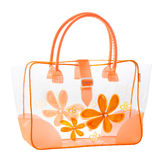 Nice transparency flower pattern handbag Royalty Free Stock Photo