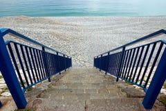 Nice - Treden aan strand Royalty-vrije Stock Afbeeldingen