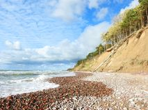 Baltic sea coast sunny day, Lithuania royalty free stock photography