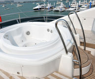 Nice tub on a yacht Royalty Free Stock Photo