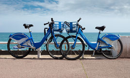 Nice - Two bicycle parked Stock Image