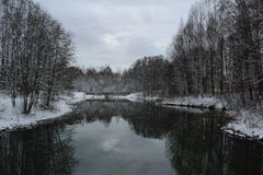 Nice un winterday Image stock