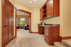 Nice unfurnished room with built in office area. Stock Image