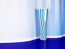 Nice vase in the blue room Royalty Free Stock Photo