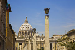 Nice Vatican. Beautiful night Vatican, Cathedral St Peter is the most famous touristic places stock images